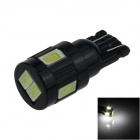 T10 / 194 / W5W 1.5W 120lm 6 x SMD 5630 LED White Car Clearance lamp / Side Light - (12V)