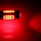1156 / BA15S / P21W 7.5W 500lm 5-LED Red Car Lamp (12~24V)