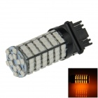 3157 / 3156 6W 600lm 120 x SMD 3528 LED Yellow Car Steering / Brake / Backup / Tail Lamp - (12V)