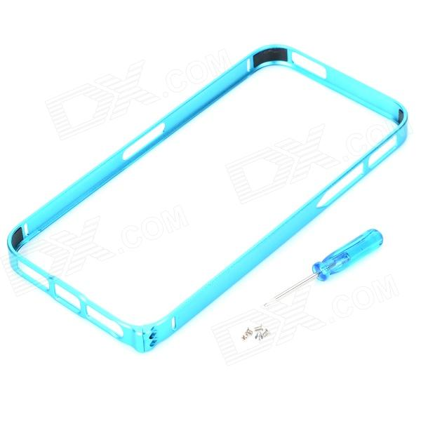 Ultrathin Protective Aluminum Alloy Bumper Frame for Iphone 5 / 5s - Light Blue s what ultrathin protective aluminum alloy bumper frame for iphone 4 4s black