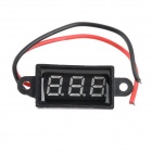 Jtron 0.28-Inch LED 3-Digital Display Two-Line Voltmeter - Black (3.50~30.0V)