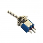 Jtron DIY 3-Pin Toggle Switch ON-ON - Deep Blue + Silver (5-Piece Pack)