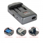 Kingma BM004C Universal Charger for Cellphone / Camera Camcorder / AA / AAA Battery - Grey + Black