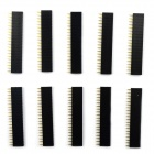 Jtron 2.54mm Single-Row Seat for 12864 LCD Screen - Black (10 PCS)