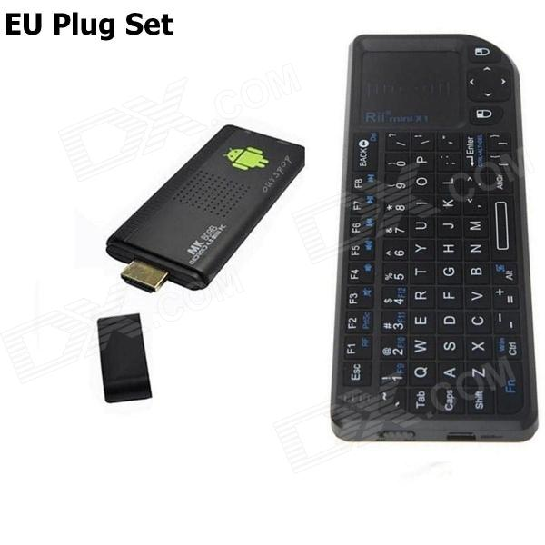 Ourspop MK9B + Rii Mini X1 Maus Quad-Core Android 4.2.2 Google TV Player w / 2 GB RAM, 8 GB ROM - EU