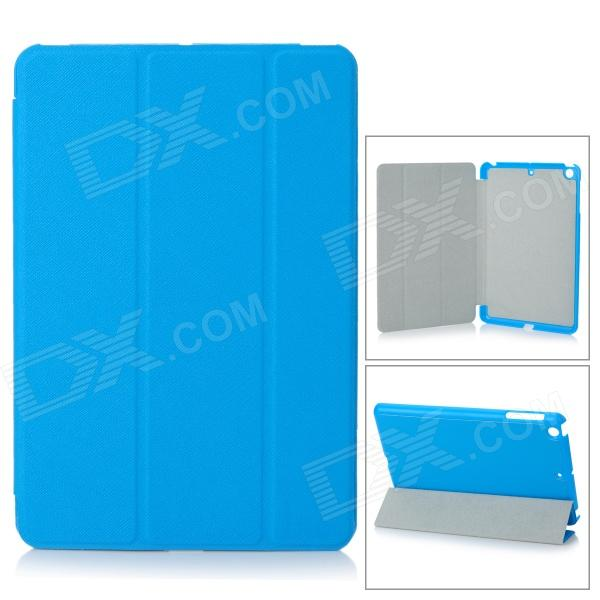 Protective PU Leather + PC Case for Retina Ipad MINI - Blue