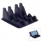 Safe Fast Blazonry A805 Silicone Anti Slip Mat Phone Holder Stand - Black