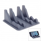 Safe Fast Blazonry A805 Silicone Anti Slip Mat Phone Holder Stand - Grey