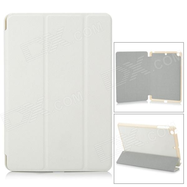 Protective PU Leather + PC Case for Retina Ipad MINI - White s pattern protective plastic case for lg nexus 5 e980 translucent grey