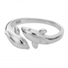Cute Dolphin Style Silver Ring for Women - Silver