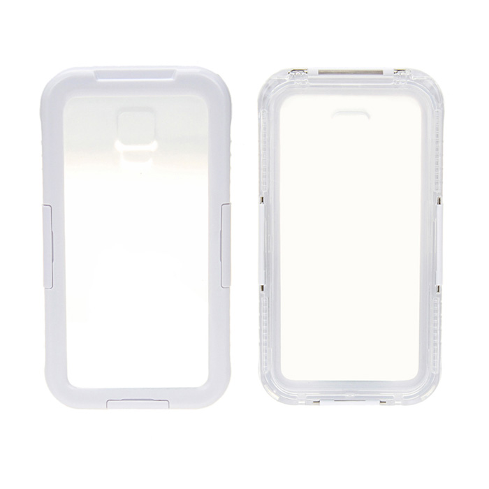 Waterproof Case for Samsung Galaxy S3 i9300 / S4 i9500 - White + Transparent