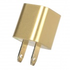AC Charging Adapter Charger w/ USB Output for iPhone 5 / 5c / 5s - Golden (US Plug)