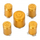 Project Design Replacement Function Button for PS3 / PS3 Slim Controller - Golden (5 PCS)