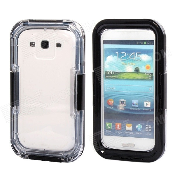 Waterproof Case for Samsung Galaxy S3 i9300 / S4 i9500 - Black + Transparent
