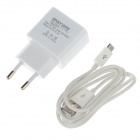 EASYWAY 1105TC-U AC Power Charger Adapter + USB Cable for Mobile Phone / PSP / MP4 - White (EU Plug)