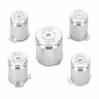 Project Design Replacement Function Button for PS3 / PS3 Slim Controller - Silver (5 PCS)
