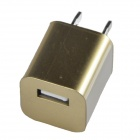 NF037 USB AC Power Charger Adapter iPhone + More - Golden (US Plug / AC 100~240V)