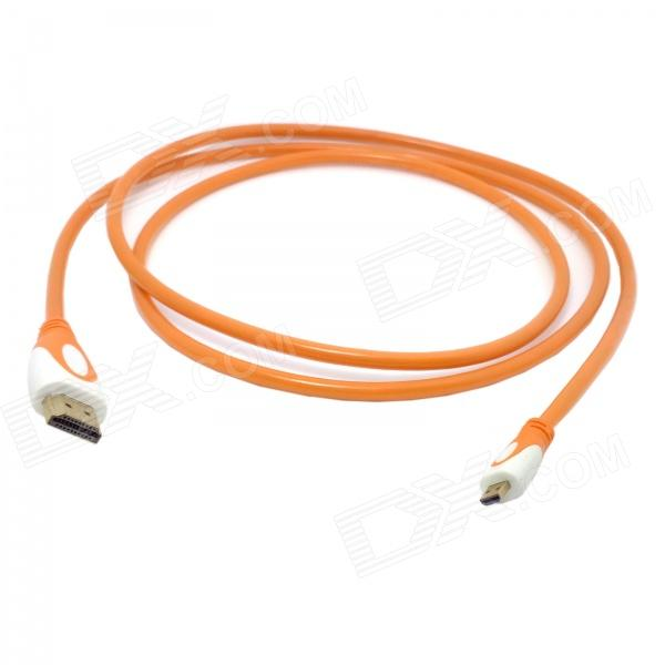 CY HD-143 HDMI V1.4 Male to Micro HDMI Male Adapter Cable for Phone / Tablet PC - Translucent Orange micro usb 2 0 to 10 100mbps ethernet lan adapter for tablet pc