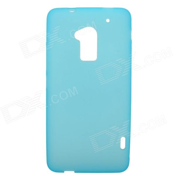 Protective TPU Back Case for HTC ONE Max 2 - Sky Blue stylish s pattern protective tpu back case for htc one max t6 8088 809d blue
