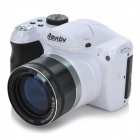 "AMKOV CD-R6 3.0"" TFT 16MP CMOS 15X Optical Zoom Digital Camera w/ SD Slot / Mini USB - White+Black"