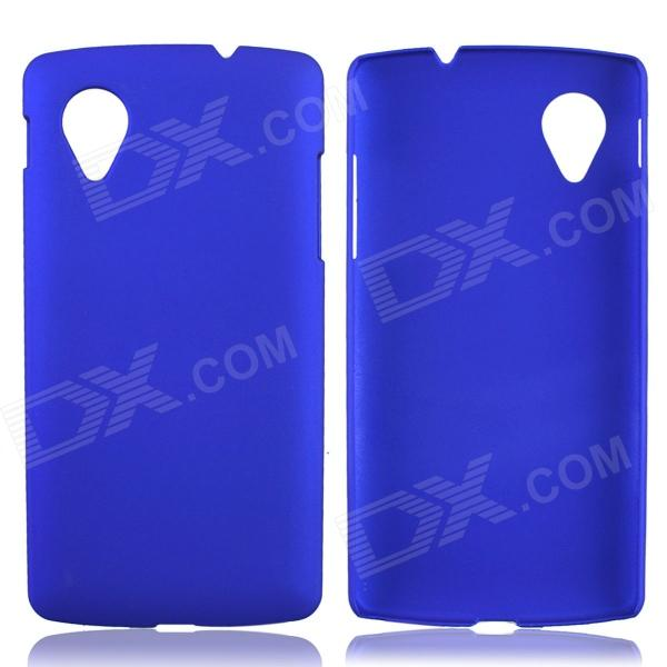 Fashionable Super Thin Protective Glaze PC Back Case for LG Nexus 5 - Deep Blue