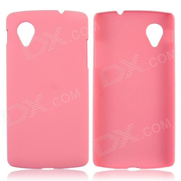 Fashionable Super Thin Protective Glaze PC Back Case for LG Nexus 5 - Pink