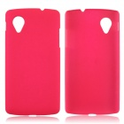 Fashionable Super Thin Protective Glaze PC Back Case for LG Nexus 5 - Deep Pink