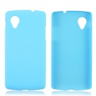 Fashionable Super Thin Protective Glaze PC Back Case for LG Nexus 5 -  Sky Blue