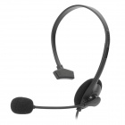 USB 2.0 Single Headphone w/ Microphone for Computer - Black