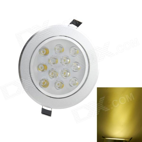 12W 2700K 1050-Lumen 12-LED Warm White Light Ceiling Down Lamp Spotlight (AC 85~265V) 12w 3500k 1050 lumen 12 led warm white light ceiling down lamp ac 100 245v