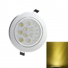 12W 2700K 1050-Lumen 12-LED Warm White Light Ceiling Down Lamp Spotlight (AC 85~265V)