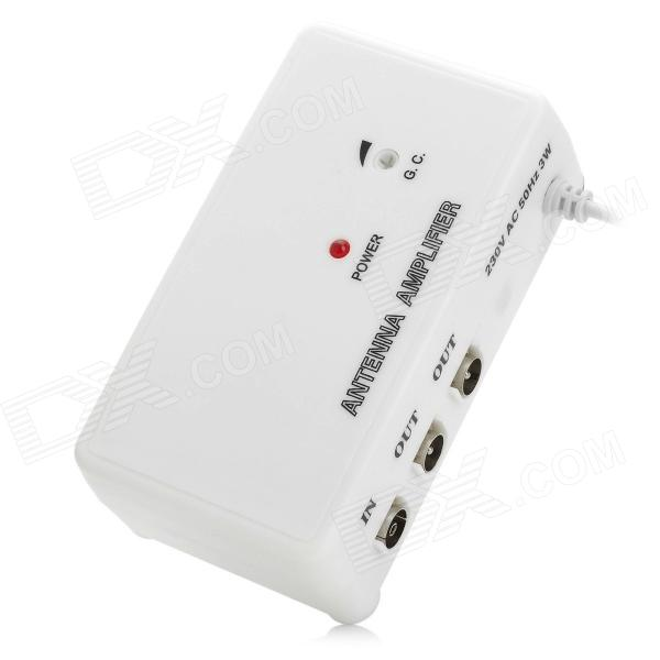 TV330 Digital Television Antenna Amplifier -White (220~240V)Other TV Accessories<br>Form  ColorWhiteBrandN/AQuantity1 DX.PCM.Model.AttributeModel.UnitMaterialPCPowered ByOthers,AC powerPacking List1 x Antenna amplifier (EU plug 220~240V)1 x IEC female connector1 x IEC male connector1 x English user manual<br>
