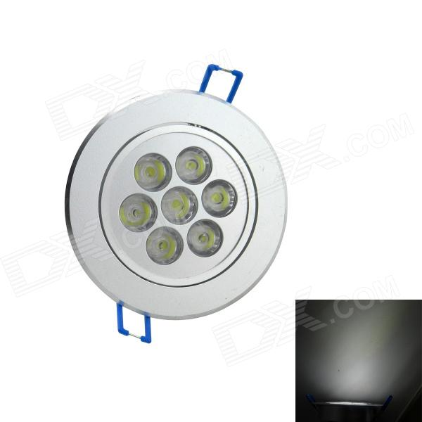 7W 6000K 600-Lumen-7-LED White Light Decken-unten Lampe Spotlight (AC 85 ~ 265V)