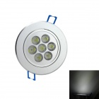 7W 6000K 600-Lumen 7-LED White Light Ceiling Down Lamp Spotlight (AC 85~265V)