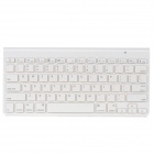 Wireless Bluetooth V3.0 78 Key Keyboard for Ipad + Laptop + More - White (2 x AAA)