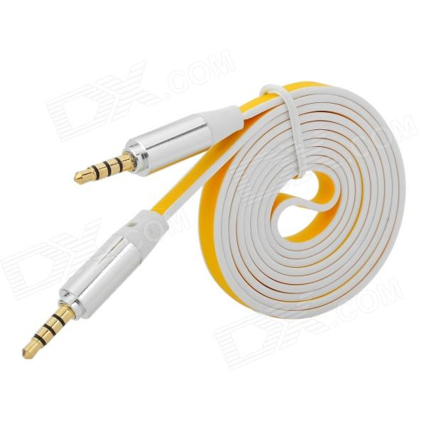 3.5mm Male to Male Flat Audio Cable - Yellow + White (120cm)