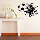 Aomei 0272 football Pattern Home Wall Decoration PVC Paper Sticker - Black60 x 49cm)