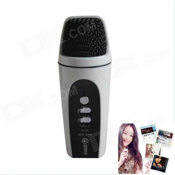 Hifier MC-091 Karaoke Dedicated Microphone for Samsung / XIAOMI / HTC + More - White + Black cad u37 usb studio recording microphone