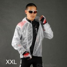 Acacia 997104 Outdoor Cycling Polyester + TPU Long-Sleeve Raincoat - White (Size XXL)