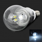 ZHISHUNJIA E14 5W 450lm 6500K 10-5730 LED White Light Bulb - Transparent