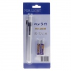 Aluminum Alloy Oral Pen w/ LED White Light Lamp - Silver (2 x AAA)