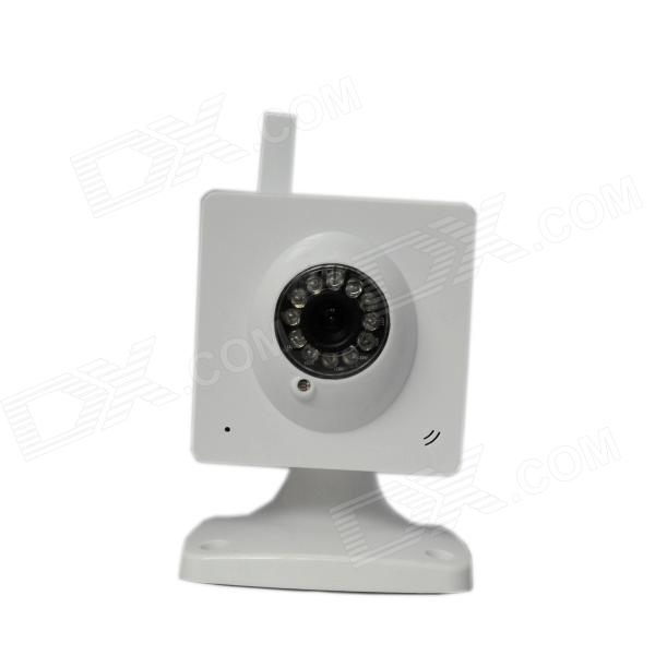 0.3MP CMOS Wireless Network IP Camera w/ Wi-Fi / 12-LED IR Night Vision - White