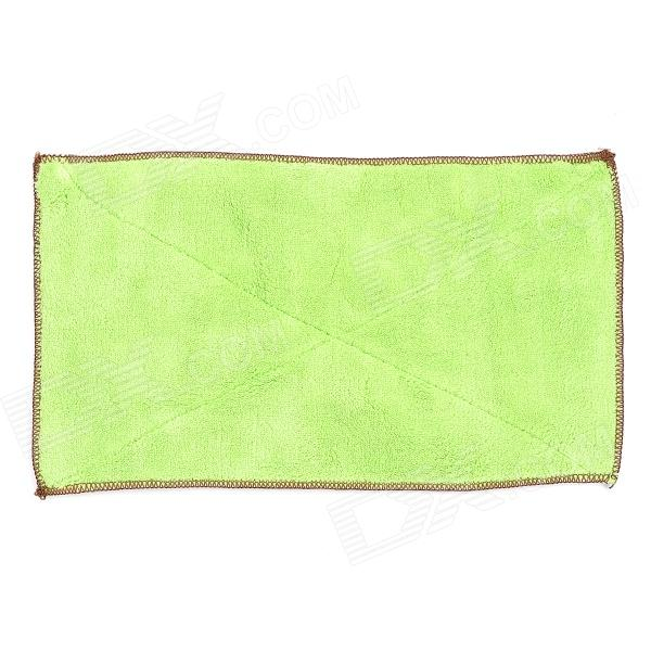 Superfine FiberDouble-Faced Cleaning Cloth - Green cupcake baking injector cleaning brush light green white