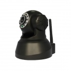 "1/4"" CMOS IP Network Camera w/ 10-IR LED / Wi-Fi - Black"