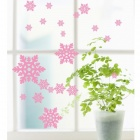 Aomei 0263 Simple snow Pattern Home Wall Decoration PVC Paper Sticker - Pink (60 x 47cm)