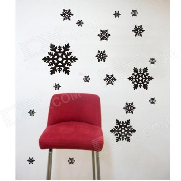 Aomei 0263 Simple snow Pattern Home Wall Decoration PVC Paper Sticker - Black (60 x 47cm) quote wall sticker i love you for home decoration waterproof removable decals