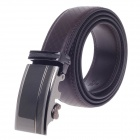 Fashionable Second Layer Cowhide Leather Men's Waist Belt w/ Zinc Alloy Buckle - Mud