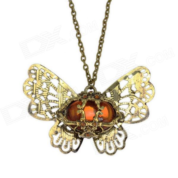 "Equte PPEW15C99 collier en bronze antique antique de bowknot (chaîne de 28"" )"