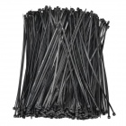 Nylon + Plastic Self-Lock Cable Management Ties - Black (500 PCS)