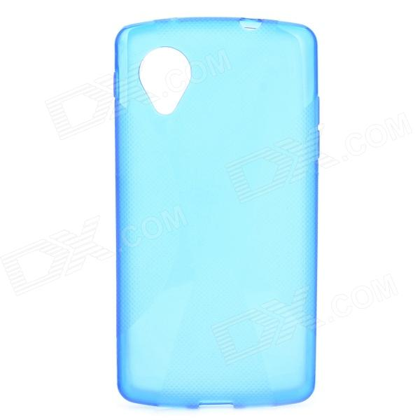X Style Anti-Slip Protective PVC + TPU Back Case for LG Nexus 5 E980 / D820 - Dark Blue x style anti slip protective pvc tpu back case for lg nexus 5 e980 d820 black